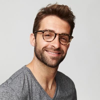 man wearing eye glasses in tulsa